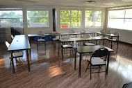 First Aid and CPR classroom where the dangers of natural disasters, including volcanic eruptions, are taught